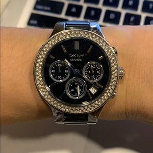 DKNY crystal graphite watch